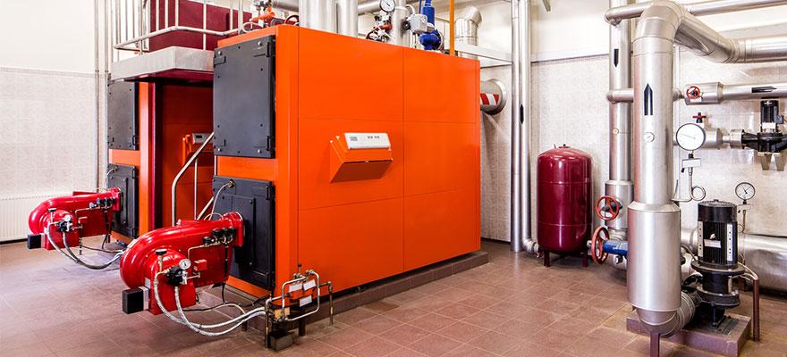 Interior industrial diesel boiler
